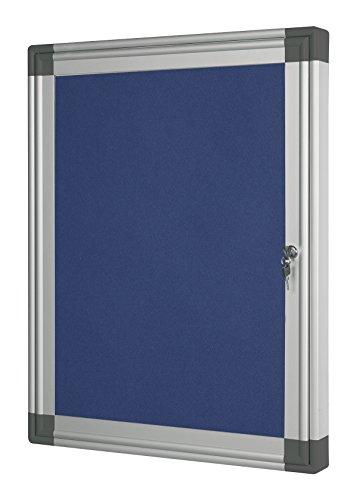 Bi-Office 600 x 450 mm-feutre avec cadre en Aluminium pour affichage externe Bleu