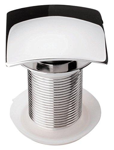 Design Schaftventil | SQUARE | Waschbeckenventil | Ablaufventil | Für Waschtische ohne Überlauf | Chrom | 1 ¼ Zoll -
