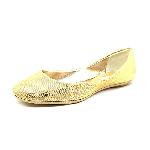 Steve Madden P-Heaven Toile Chaussure Plate Gold Foil