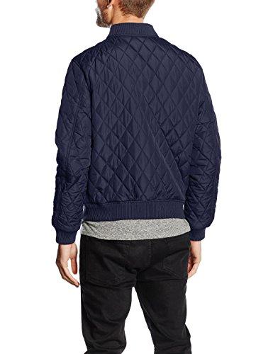 Urban Classics Diamond Quilt Nylon Jacket, Blouson Homme Bleu - Blau (navy 155)