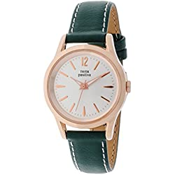 THINKPOSITIVE, Mens watch, Model SE W 130 R Big Milano Rosè, Imitation leather strap, Unisex, Color green