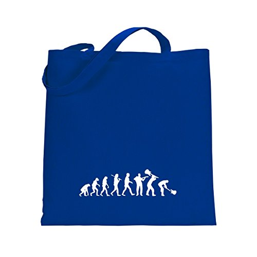 Shirtfun24 Baumwolltasche EVOLUTION ROCKSTAR Gitarrist Bassist, bottle (grün) royal blau