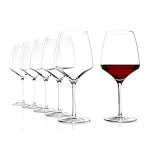 Stölzle Lausitz Burgunder Experience Rotweingläser, 695ml, 6er Set, spülmaschinenfest: Hochwertige Rotweinkelche aus edlem Glas, elegant und schlicht