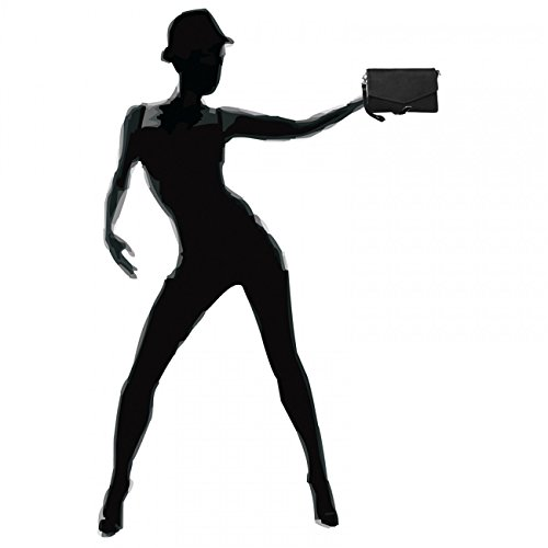 CASPAR Fashion - Borsetta senza manici donna Nero (nero)