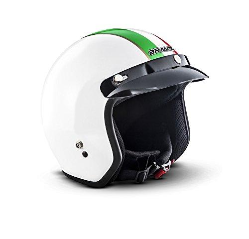 """ARMOR · AV-47 """"Italy"""" · Jet-Helm · Bobber Scooter-Helm Chopper Roller Motorrad-Helm Mofa ·..."""