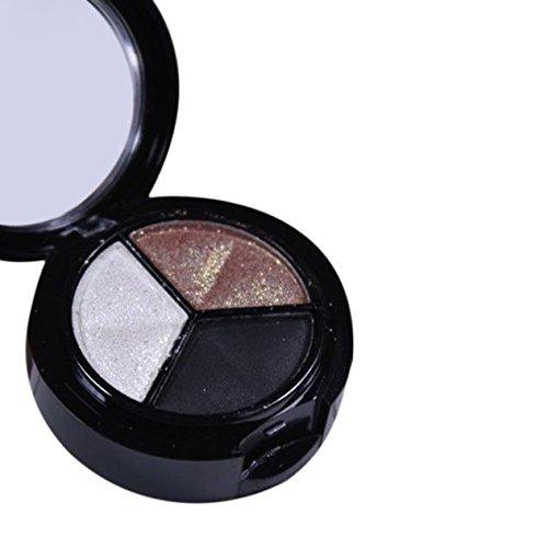 Styledress Professionelle rauchige Kosmetik Set 3 Farben Natürliche Matte Makeup Lidschatten Lidschatten ()