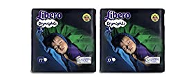 Libero Drynights Large Size Diaper - 17 Counts - Pack Of 2