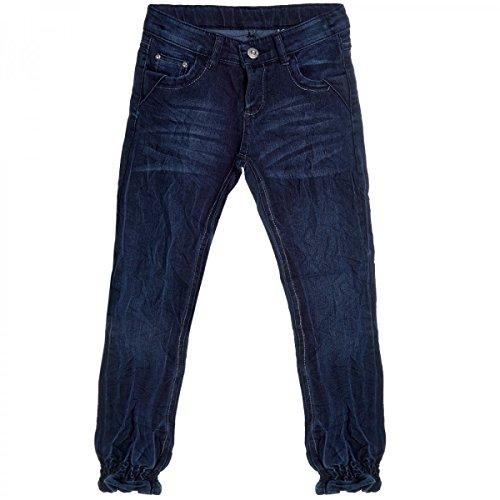 Kinder Mädchen Jeans Hose Röhre Straight Fit Skinny Sommer Stretch Bootcut 20490, Farbe:Blau;Größe:176 (Stretch-bootcut Ziehen)