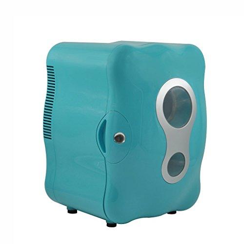 LT&NT Réfrigérateur de Voiture 8 litres Refroidisseur électronique d'automobile Maison à Double Usage Réfrigérée 12V/220V-240V, Bleu