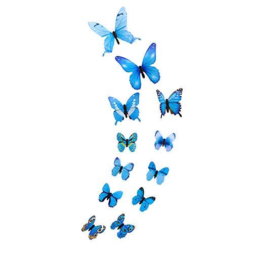 VICKY-HOHO 12 stücke Leucht Schmetterling Design Aufkleber Kunst Wandaufkleber Raum Magnetische...