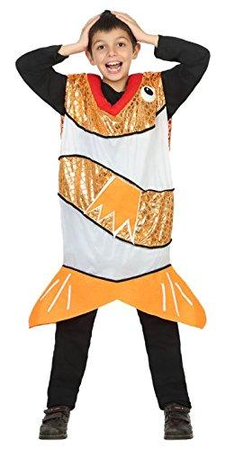ATOSA 30779 - Orangener Fisch, Jungenkostüm, Größe 140 (Fisch Und Chips Kostüm)