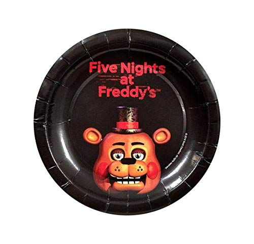 "Five Nights At Freddy's 7"" Round Paper Plates 8ct"