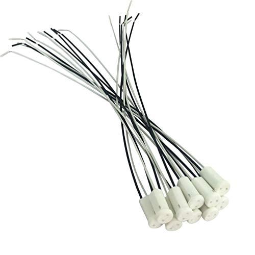 12 Volt, Mr11-g4 Sockel (ODETOJOY G4 Lampenfassung Fassung Sockel Lampensockel Mit 10cm Kabelzuleitung MR11 Sockel für Niedervolt 12V/24V (5))