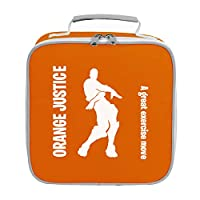 Apparel Printing Orange Justice A Great Exercise Move Emote Lunch Bag Orange
