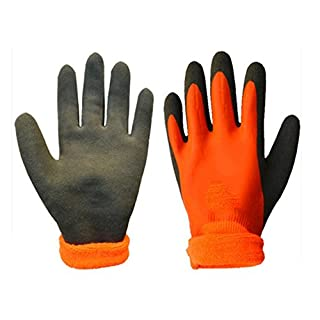 NAN Glove Nitrile Coating Gardening and Work Gloves For General Purpose (1 Pairs/L) (Color: Orange) Nitrile