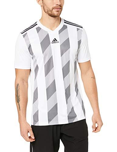Adidas Gestreiftes T-shirt (adidas Herren Striped 19 JSY T-Shirt, White/Black, L)