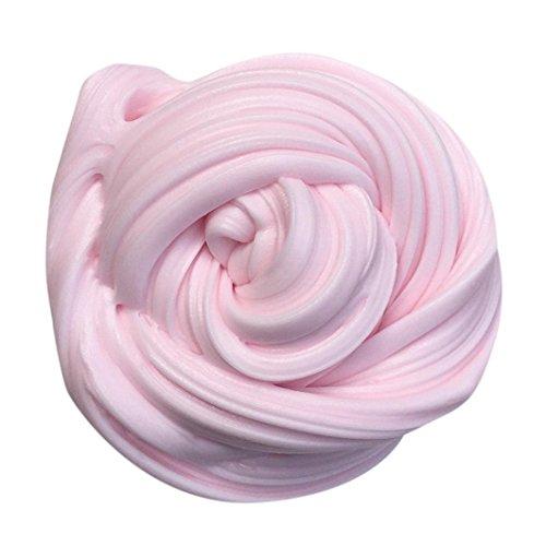 eicher Slime/Schaum/Schleim, sicher  & ungiftig, duftend, Macaron-Farbe, Ton/Knete, stressabbauendes Spielzeug für Kinder und Erwachsene, 170 g, PU, hellrosa, 60ml (Kinder Einfach Halloween Handwerk)