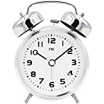 "TXL 3.5"" Twin Bell Alarm Clock Kids, Battery Operated with Nightlight, Handheld Sized, Non-Ticking Silent Metal Alarm..."