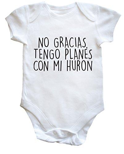 hippowarehouse-no-gracias-tengo-planes-con-mi-huron-body-bodys-pijama-ninos-ninas-unisex