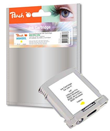 Preisvergleich Produktbild Peach Tintenpatrone gelb kompatibel zu HP No. 940XL, C4909AE
