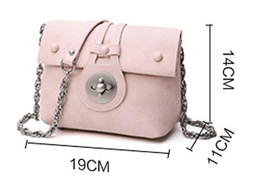 Longzibog Dual verstellbare Schultergurte und H?ngeschlaufenband Mode Simple Style Fashion Tote Top Handle Schulter Umh?ngetasche Satchel Pink