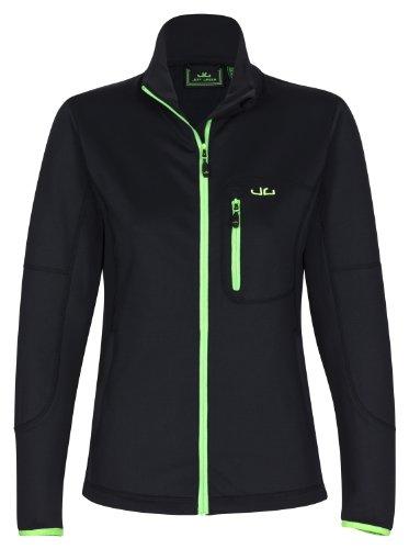 Jeff Green Damen Softshell Jersey Jada Black, 44 (Größe: XXL) Damen Stretch Fleece Pullover