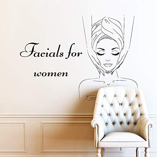 esichtsbehandlungen Quote Wall Decals Maske Hautpflege Körper Massage Vinyl Aufkleber Schönheitssalon Wanddekoration 50 * 37 cm ()