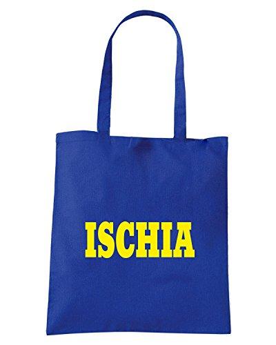 T-Shirtshock - Borsa Shopping WC1009 ISCHIA ITALIA CITTA STEMMA LOGO Blu Royal