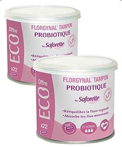 SaforelleFlorgynalProbiotische Tampons, normal,2Packungen à 22Tampons