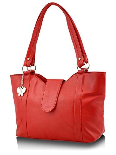 Butterflies Women's Handbag (Red) (BNS 0298)