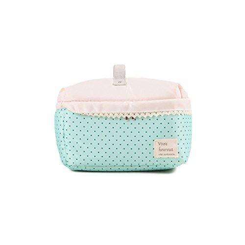 Fieans Portable Groß Damen Kosmetiktasche Kosmetiktasche Reisekosmetik Waschtasche Wash Bag Toiletbag-Grün