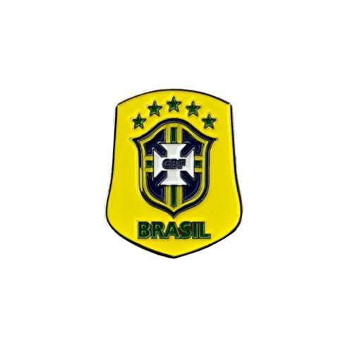 Pin / Anstecker mit Fußballmanschafts-Wappen, offizieller Fußball-Fan-Artikel, verschiedene Mannschaften verfügbar In offizieller Verpackung - Brasil FC