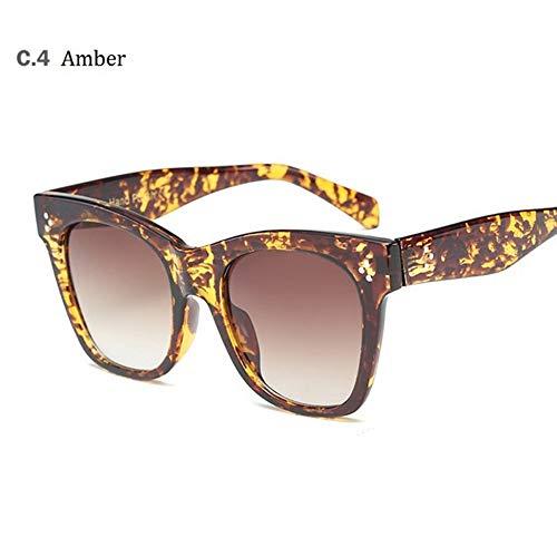 MoHHoM Sonnenbrille Hot Cat Eye Berühmtheit Kim Kardashian Sonnenbrillen Luxus Sonnenbrille Frauen Lady Übergroße Frame Brille Gelb