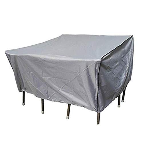 BAIYING-Abdeckung Gartenmöbel Oxford Tuch Gartenmöbel Mechanische Abdeckung Tisch- Und Stuhlabdeckung Staubdicht Wasserdicht Anti-UV 32 Größen, Anpassbar (Color : Gray, Size : 213×132×72CM)