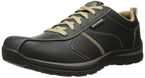 Skechers Men's Superior Levoy Shoes, Black, 8 UK