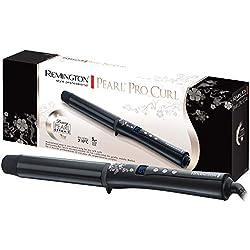 Remington Fer à Boucler, Boucleur XL 32mm Eclats de Perles Céramique Avancée, Cheveux Brillants, Doux, Longue Tenue Des Boucles - Accessoires Inclus CI9532