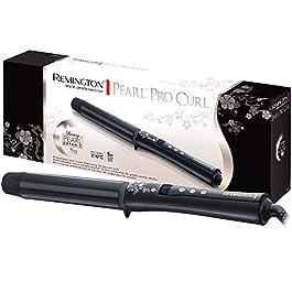 Remington Pearl CI9532, 32 mm per ricci grandi, display LCD, rivestimento ceramico di alta qualità con perle vere, nero