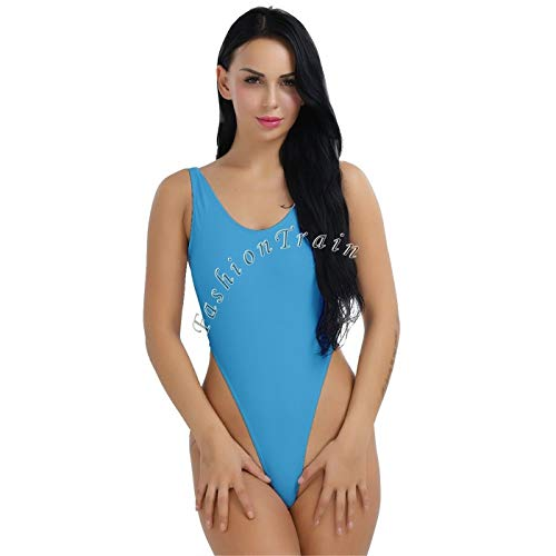 b70bb498 Sexy Women's One-Piece Bikini Swim Monokini Yoga Leotard Thong Bodysuit  Swimsuit Sky Blue M