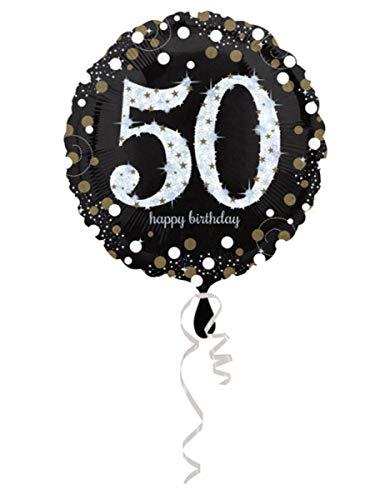 amscan 3213101-50. Geburtstag-Folien-Luftballons (Geburtstag 50 Ballons)