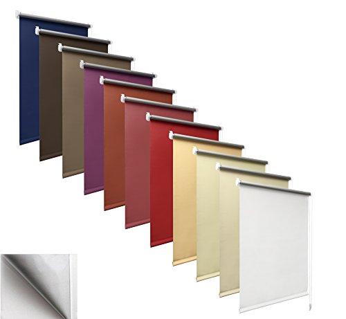 way2way Thermo-Rollo | vanille 60cm | Smartfix - Klemmfix - ohne bohren - viele Farben & Größen- komplett verdunkelnd / BLACKOUT