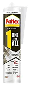pattex colle de fixation one for all crystal 290 g transparent bricolage. Black Bedroom Furniture Sets. Home Design Ideas