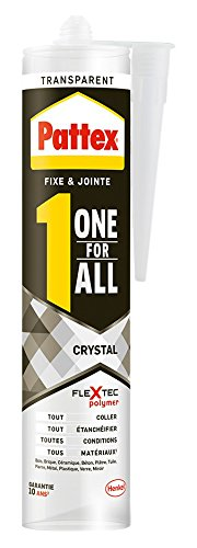 Pattex Colle de fixation One For All Crystal - 290 g - Transparent