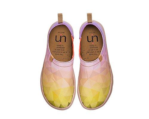 UIN Goldenes Mädchen Bemalte Canvas Slip On Schuhe Damen Gelb (41 EU)