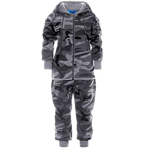 Kinder Jogginganzug Junge Hoodie Pullover Kapuzenpullover Hose Sportanzug 21737, Farbe:Schwarz, Größe:152
