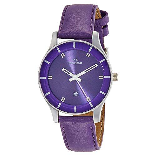 Maxima Analog Purple Dial Women's Watch-41280LMLI image