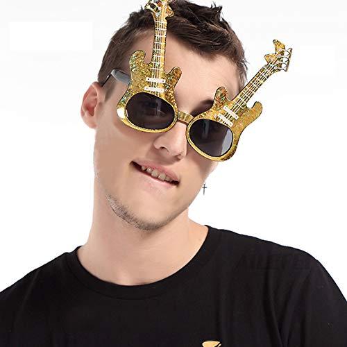 Kostüm Gruppe Kinder Nette - Unbekannt 5 Pc Reizende Nette Mode Kreative Maskerade Zubehör Gläser Rahmen Gitarre Brillen für Erwachsene Kinder Foto Requisiten Geburtstag Party