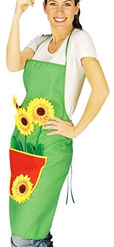gaertnerkostuem Gärtnerschürze Grillschürze grün mit Sonnenblumen
