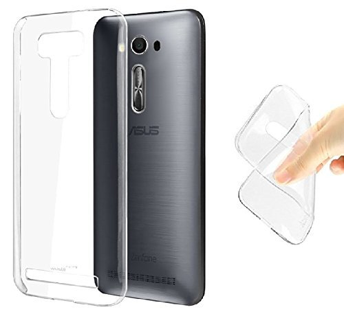 JM Transparent Soft Ultra Slim Back Cover Case For Asus Zenfone 2 Laser ZE500KL (5.0 Inch)  available at amazon for Rs.105