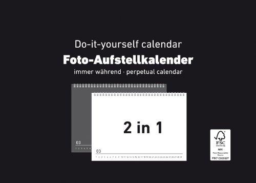 Foto-Aufstellkalender undatiert schwarz-weiß