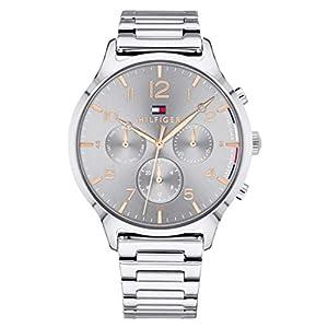 Tommy Hilfiger Unisex Multi Zifferblatt Quarz Uhr mit Edelstahl Armband 1781871